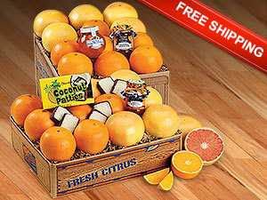 Sunshine Deluxe Assortment with Navel Oranges and Ruby Red Grapefruit and Free Shipping