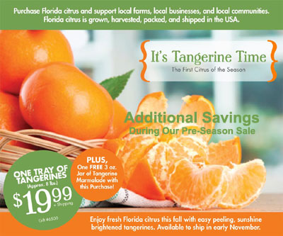 Sale 8 lb. Tray Tangerines and Tangerine Marmalade only $19.99 plus s/h.