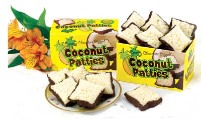 Chocolate-Dipped Coconut Patties from Florida