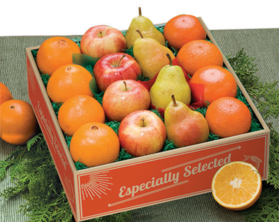 Four Variety Pack of oranges, tangerines, apples and pears.