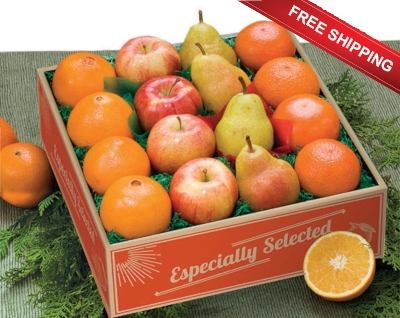 Four Variety Pack of oranges, tangerines, apples and pears shipped free.