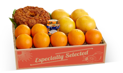 Navel Oranges, Ruby Red Grapefruit, Cinnamon Walnut Coffee Cake and Orange Marmalade.
