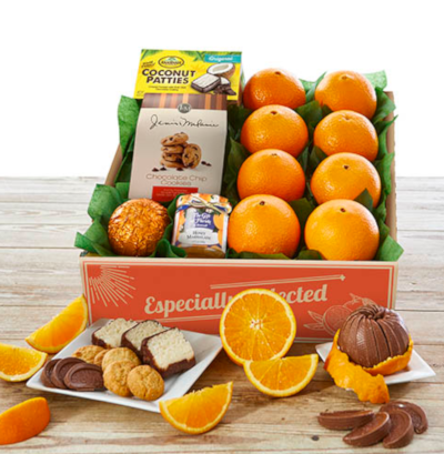 Navel Oranges paired with sweet and tasty Florida treats.