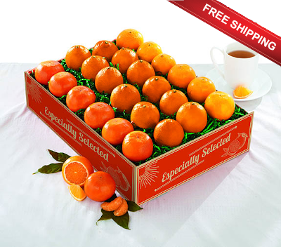 Three favorite flavors:  Honeybells, Navels and Tangerines ship free